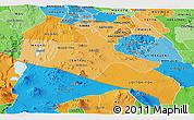 Political Shades Panoramic Map of KAJIADO