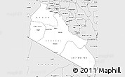 Silver Style Simple Map of KAJIADO