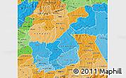 Political Shades Map of KAKAMEGA