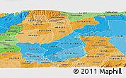 Political Shades Panoramic Map of KAKAMEGA