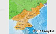 Political Shades 3D Map of North Korea