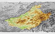 Physical Panoramic Map of Changang, desaturated