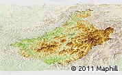 Physical Panoramic Map of Changang, lighten
