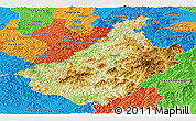 Physical Panoramic Map of Changang, political outside