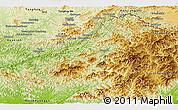 Physical Panoramic Map of Changang