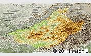 Physical Panoramic Map of Changang, semi-desaturated