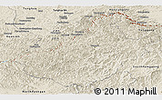 Shaded Relief Panoramic Map of Changang