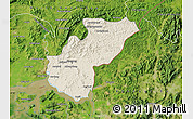 Shaded Relief Map of Kaesong, satellite outside