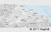Silver Style Panoramic Map of Kangwon