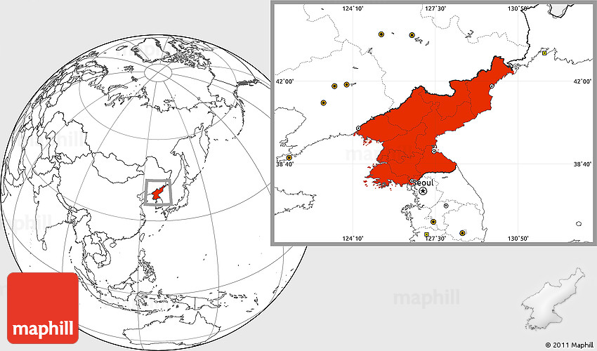 blank location map of north korea