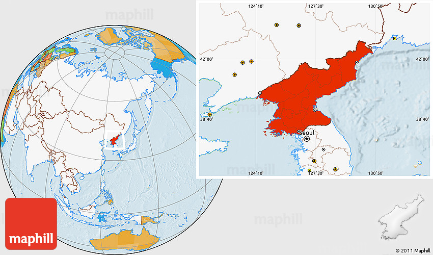 Political location map of north korea highlighted continent westnortheast south gumiabroncs Gallery