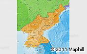Political Shades Map of North Korea