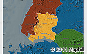 Political Map of Nampo, darken