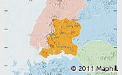 Political Map of Nampo, lighten