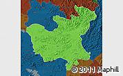 Political Map of North Hwanghae, darken