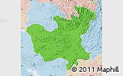 Political Map of North Hwanghae, lighten