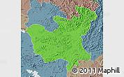 Political Map of North Hwanghae, semi-desaturated
