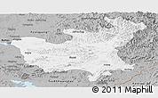 Gray Panoramic Map of North Hwanghae