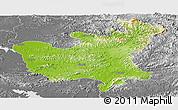 Physical Panoramic Map of North Hwanghae, desaturated