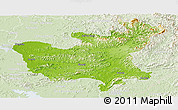 Physical Panoramic Map of North Hwanghae, lighten
