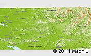 Physical Panoramic Map of North Hwanghae