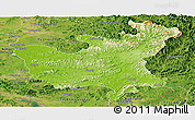 Physical Panoramic Map of North Hwanghae, satellite outside