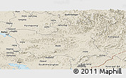 Shaded Relief Panoramic Map of North Hwanghae