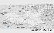 Silver Style Panoramic Map of North Hwanghae