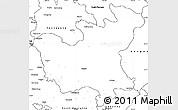 Blank Simple Map of North Hwanghae