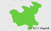 Political Simple Map of North Hwanghae, single color outside