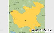 Savanna Style Simple Map of North Hwanghae