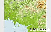 Physical Map of North Pyongan
