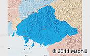 Political Map of North Pyongan, lighten