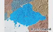 Political Map of North Pyongan, semi-desaturated