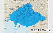 Political Map of North Pyongan, shaded relief outside