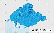 Political Map of North Pyongan, single color outside