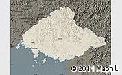 Shaded Relief Map of North Pyongan, darken