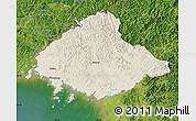 Shaded Relief Map of North Pyongan, satellite outside