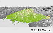 Physical Panoramic Map of North Pyongan, desaturated