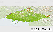 Physical Panoramic Map of North Pyongan, lighten