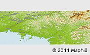 Physical Panoramic Map of North Pyongan