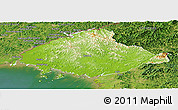 Physical Panoramic Map of North Pyongan, satellite outside