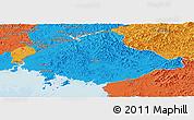 Political Panoramic Map of North Pyongan