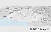 Silver Style Panoramic Map of North Pyongan