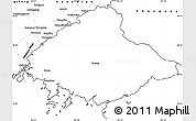 Blank Simple Map of North Pyongan