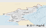 Classic Style Panoramic Map of North Korea, single color outside