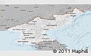 Gray Panoramic Map of North Korea