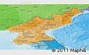 Political Shades Panoramic Map of North Korea