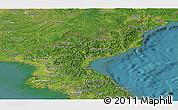 Satellite Panoramic Map of North Korea