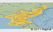 Savanna Style Panoramic Map of North Korea